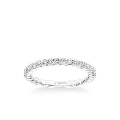 Wren Contemporary Diamond and Rope Wedding Band