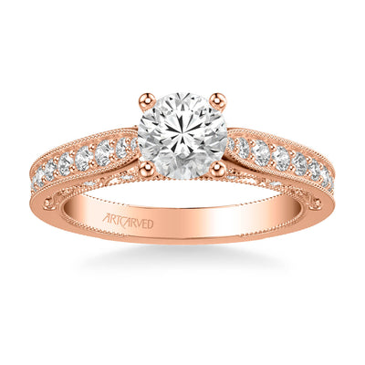 Blanche Vintage Side Stone Heritage Collection Diamond Engagement Ring