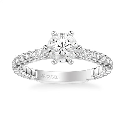 Arabelle Classic Side Stone Diamond Engagement Ring