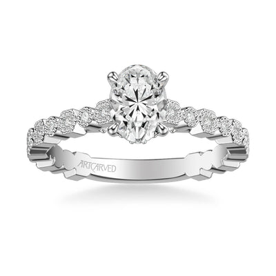 Louisa Vintage Side Stone Diamond Engagement Ring