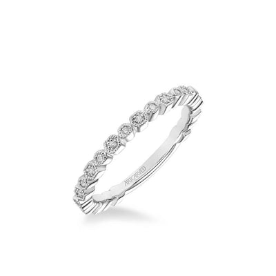 Louisa Vintage Diamond and Milgrain Multi-Shape Wedding Band
