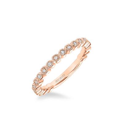 Lilith Vintage Diamond and Milgrain Multi-Shape Wedding Band