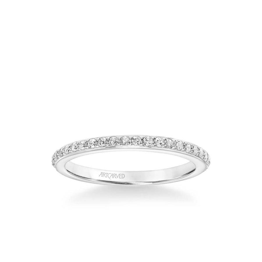 Gray Contemporary Diamond Wedding Band