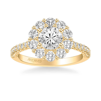 Penny Classic Round Halo Diamond Engagement Ring