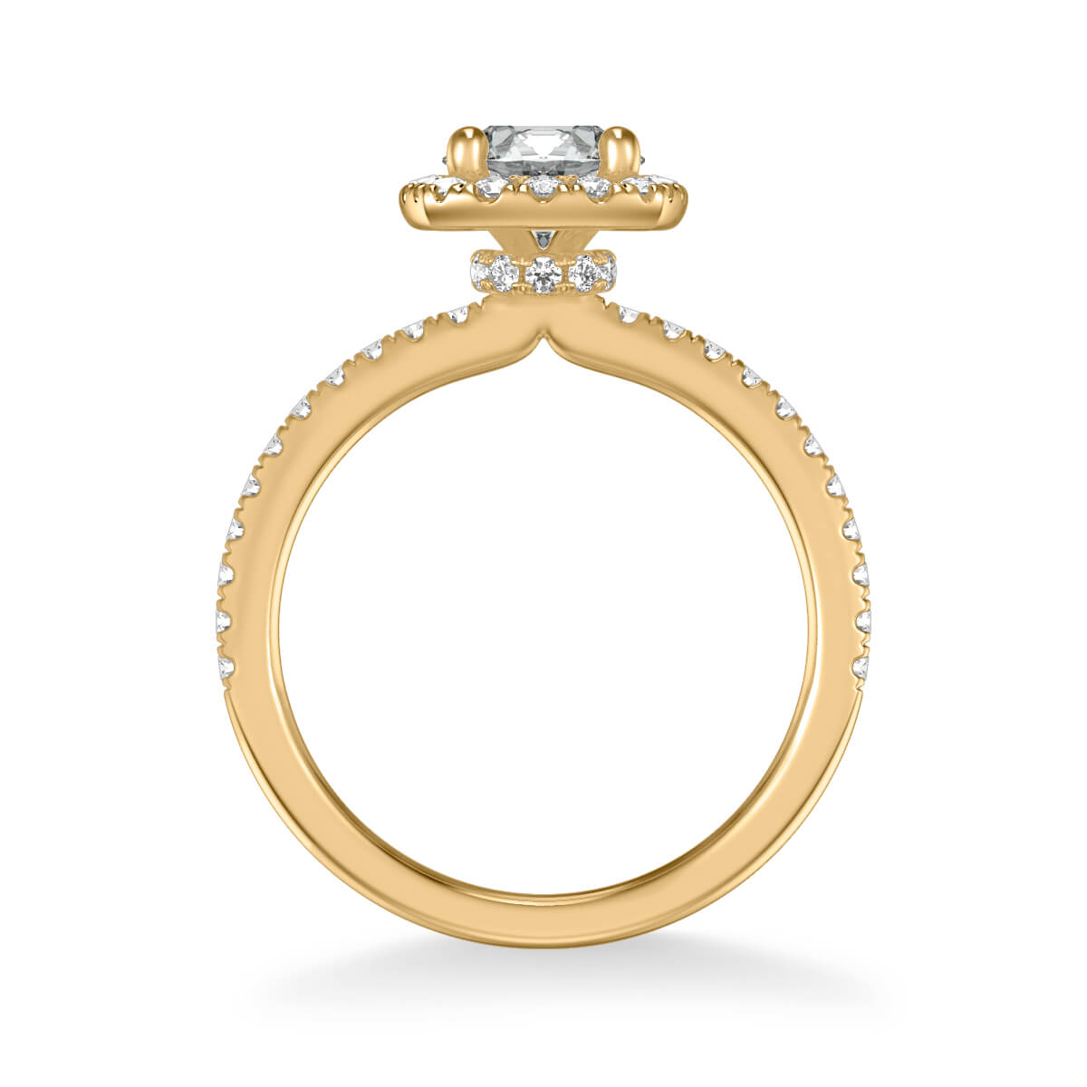 afcaae0daf0a3 Molly Classic Cushion Halo Diamond Engagement Ring