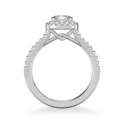 Tori Classic Cushion Halo Diamond Engagement Ring