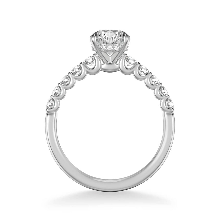 Faye Classic Side Stone Diamond Engagement Ring