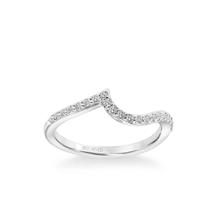 Sierra Contemporary Diamond Curve Wedding Band