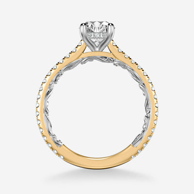 Sonya Lyric Collection Classic Side Stone Diamond Engagement Ring