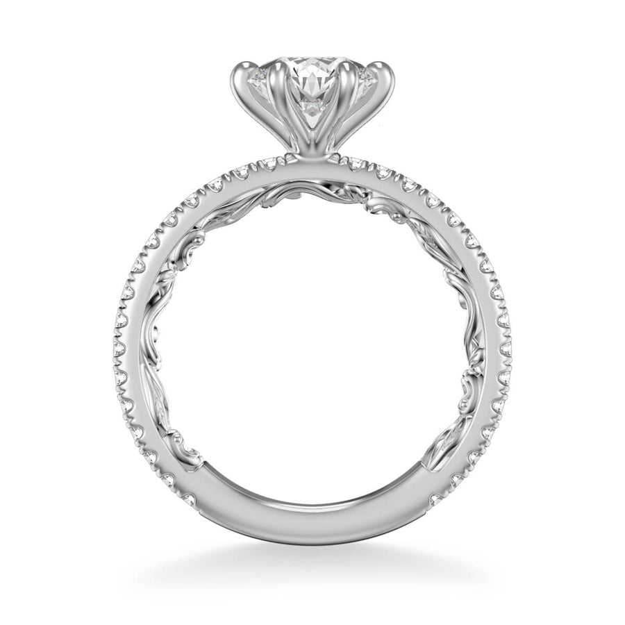 Lara Lyric Collection Classic Side Stone Diamond Engagement Ring