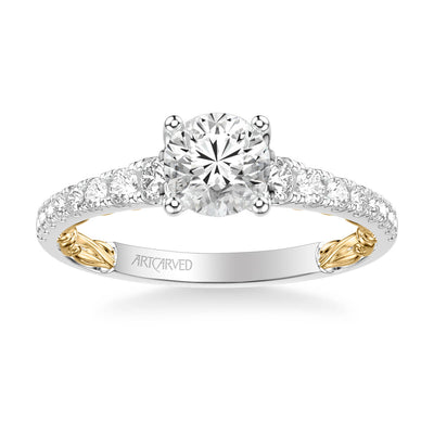 Harley Lyric Collection Classic Side Stone Diamond Engagement Ring