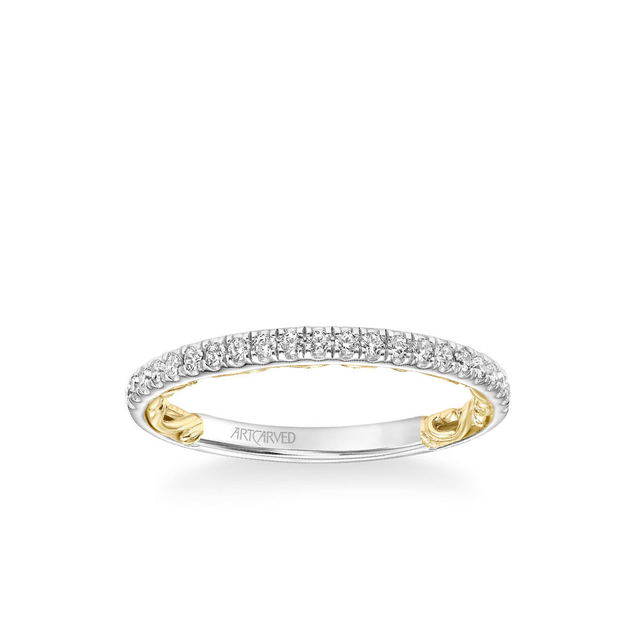 Brianne Lyric Collection Classic Diamond Wedding Band