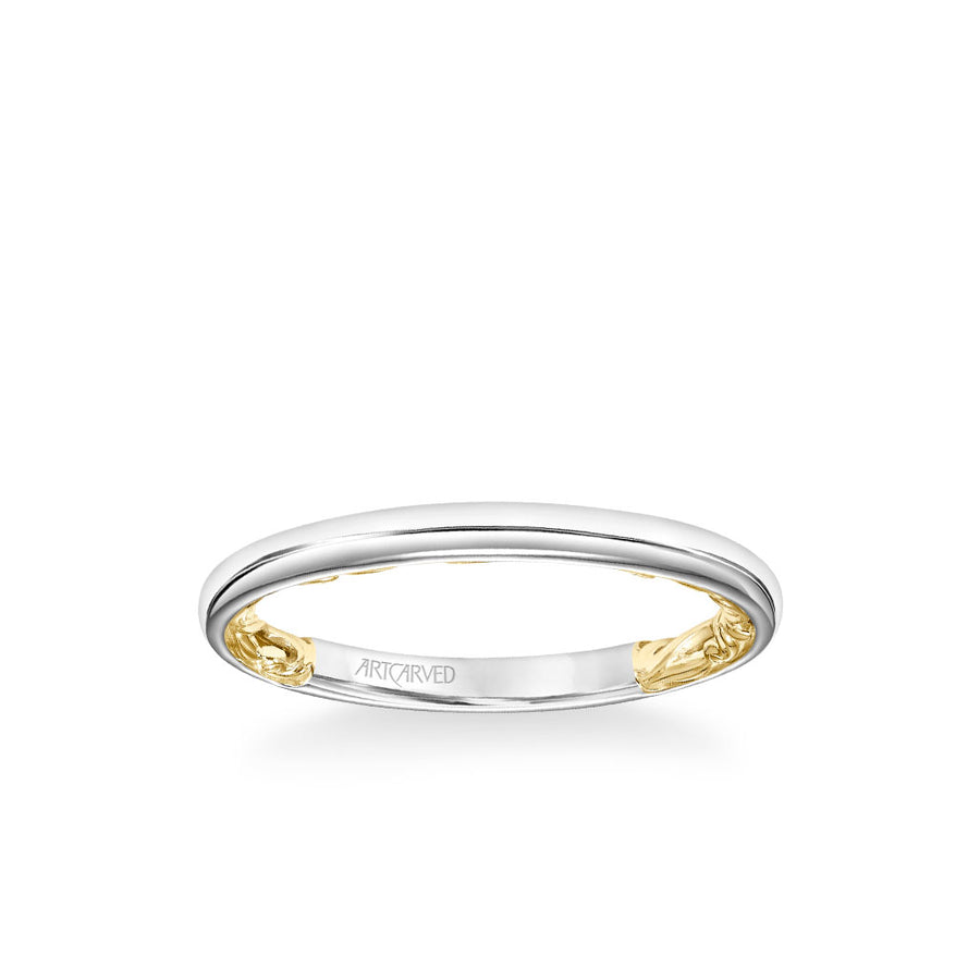 Aileen Lyric Collection Classic Polished Wedding Band