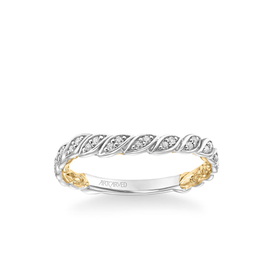 Anouk Lyric Collection Contemporary Diamond Floral Wedding Band