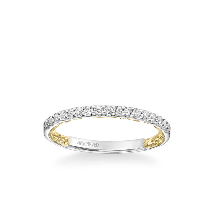 Theda Lyric Collection Classic Diamond Wedding Band