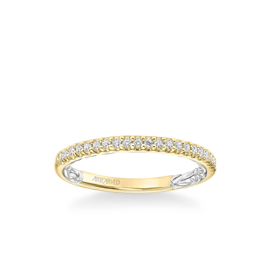Winifred Lyric Collection Classic Diamond Wedding Band