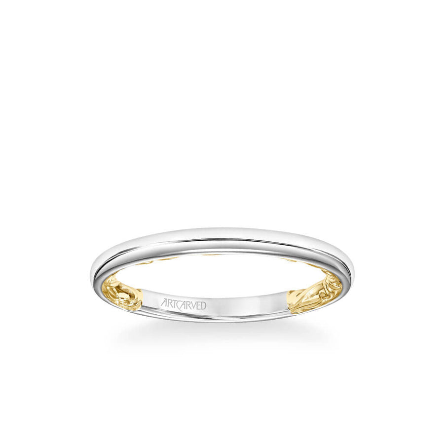 Courtney Lyric Collection Classic Polished Wedding Band