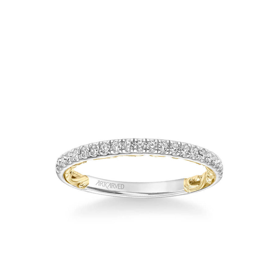 Cici Lyric Collection Classic Diamond Wedding Band