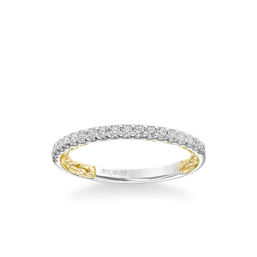 Falyn Lyric Collection Classic Diamond Wedding Band
