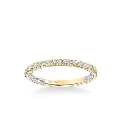 Mellie Lyric Collection Classic Diamond Wedding Band