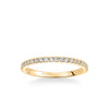 Stackable Band with Shared Prong Set Diamonds