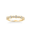 Stackable Band with Alternating Bezel Set Diamonds