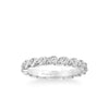 Stackable Eternity Band with Diamond Petal Design