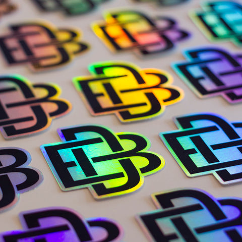 BD Monogram holographic sticker – £2 delivered!