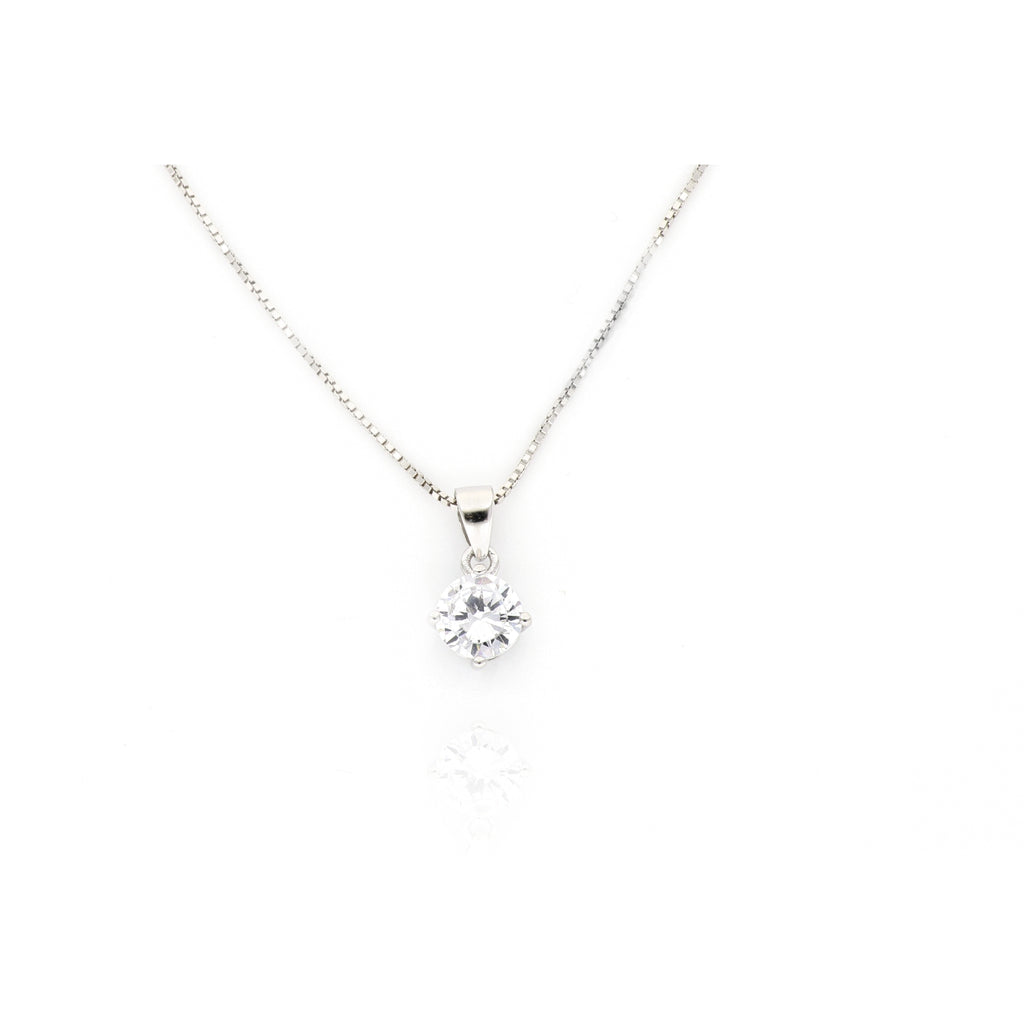 Collana in argento 925 punto luce a griffe