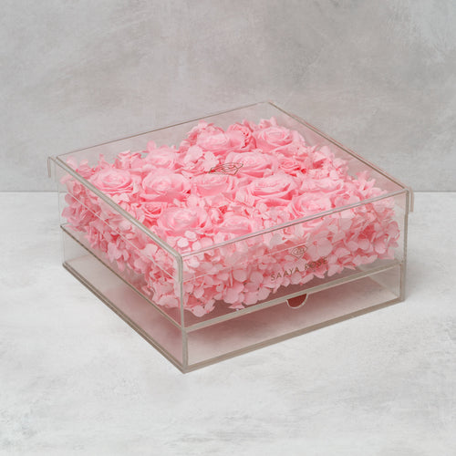 Clear Hydrangea/Rose Box (large)