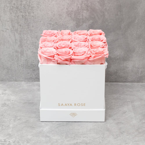 16 White Box (Blush Pink Roses)