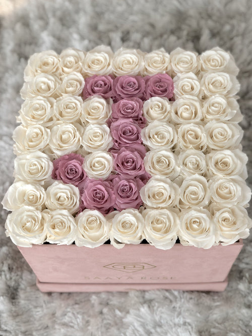 Letter Arrangements - 49 Rose Box