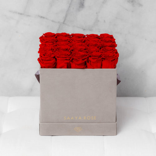 25 Rose Box (Suede)