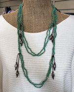 Turquoise Double Layer Wrap Necklace