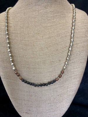 Silver/Copper/Black Ammunition Beaded Necklace