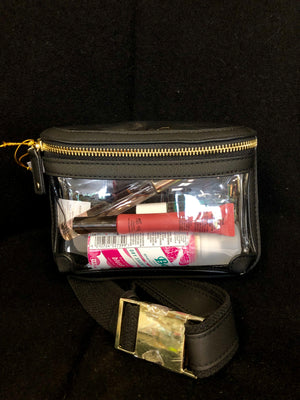 Clear Belt Bag in Black