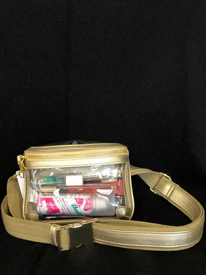 Clear Belt Bag in Gold