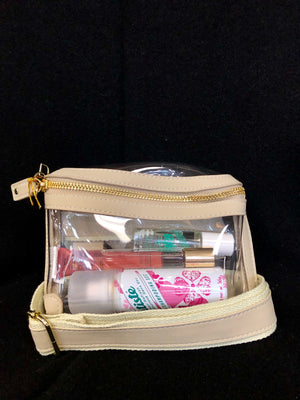 Clear Belt Bag in Nude