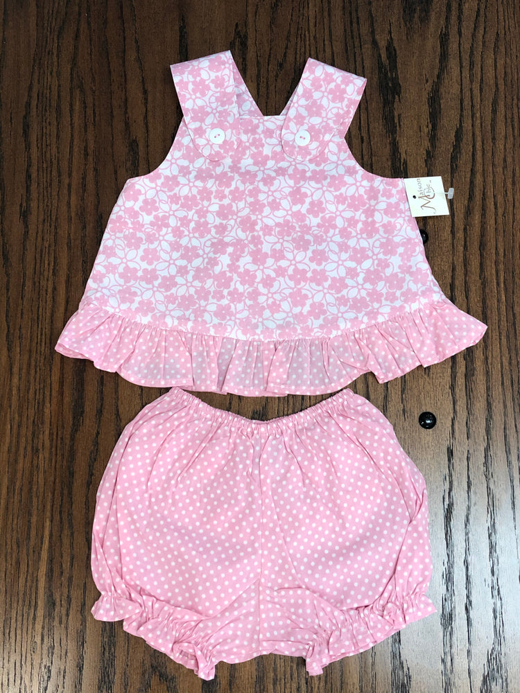 Maison Chic Cotton Candy Sundress & Bloomers