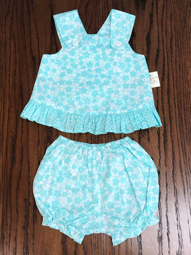 Maison Chic Aqua Sundress & Bloomers