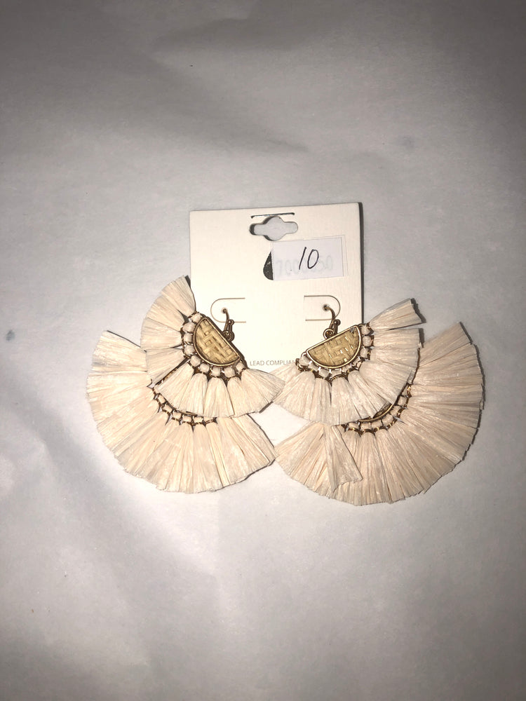 Layered Straw Earrings