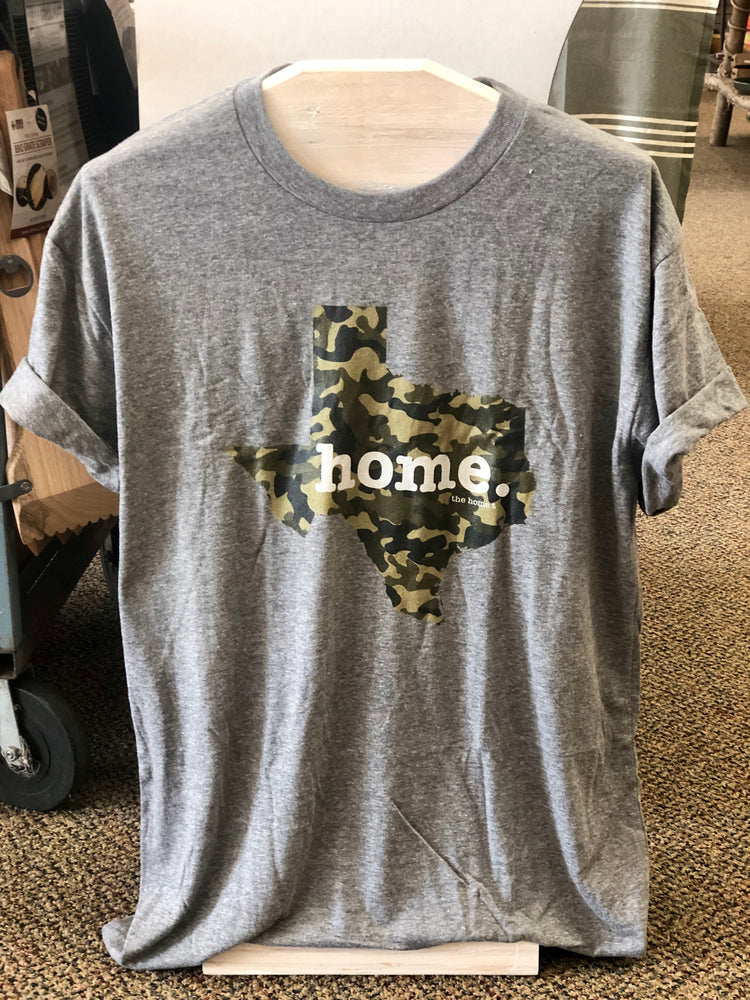 Texas Camo Home Tee Grey