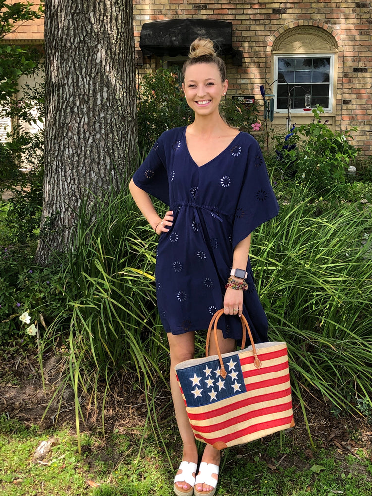 Navy Cotton Cover-Up