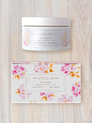 Lollia Body Butter-Breathe/Peony & White Lily