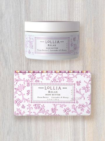Lollia Body Butter-Relax/Lavender & Honey
