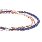 Lapis Wrap Bracelet/Necklace