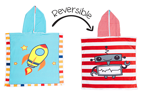 Flapjack Kids Reversible Cover Up (Spaceship/Robot)