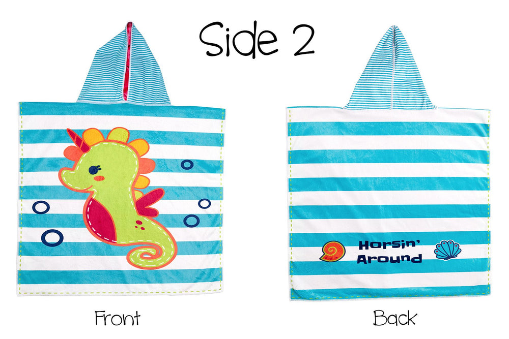 Flapjack Kids Reversible Cover Up (Mermaid/Seahorse)