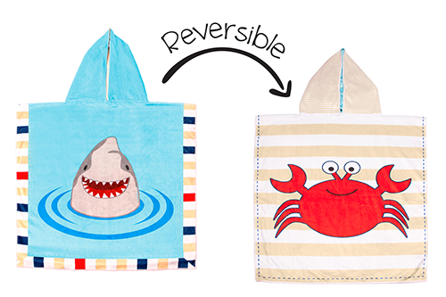 Flapjack Kids Reversible Cover Up (Shark/Crab)