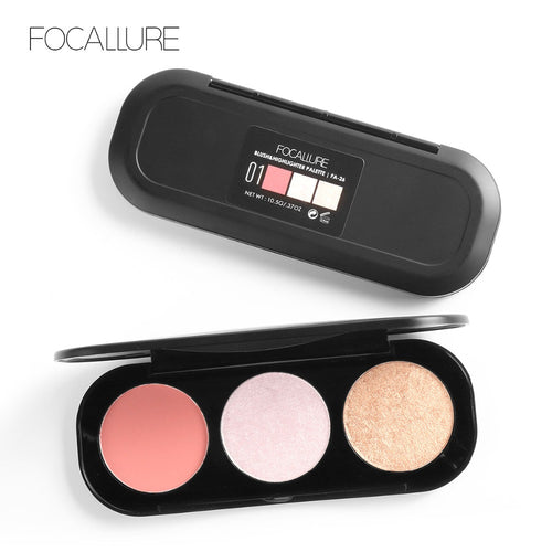 FOCALLURE™ Blush & Highlighter 3 Colors